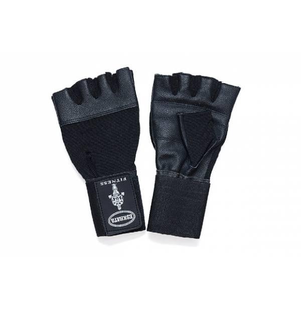 Перчатки кожа/ткань